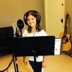Summer Camp Student in recording studio